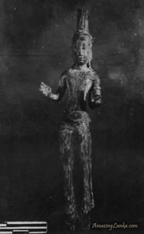 A Statuette of Avalokiteshvara Bodhisattva discovered in Samalankulam - Vavuniya