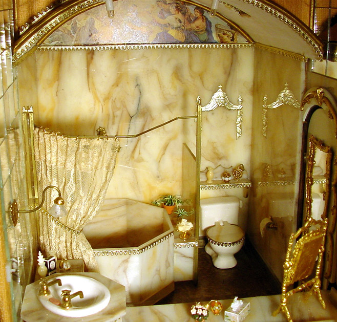 The Marble Bathroom In The Freemans Dollhouse Castle