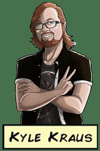 Amazing Nerdcast - Kyle comic portrait