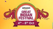 Amazon Hosts Great Indian Festival Sale Again from Oct 4-8