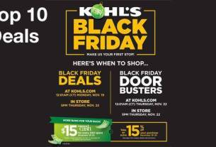 Kohl Black Friday 2018 Deals