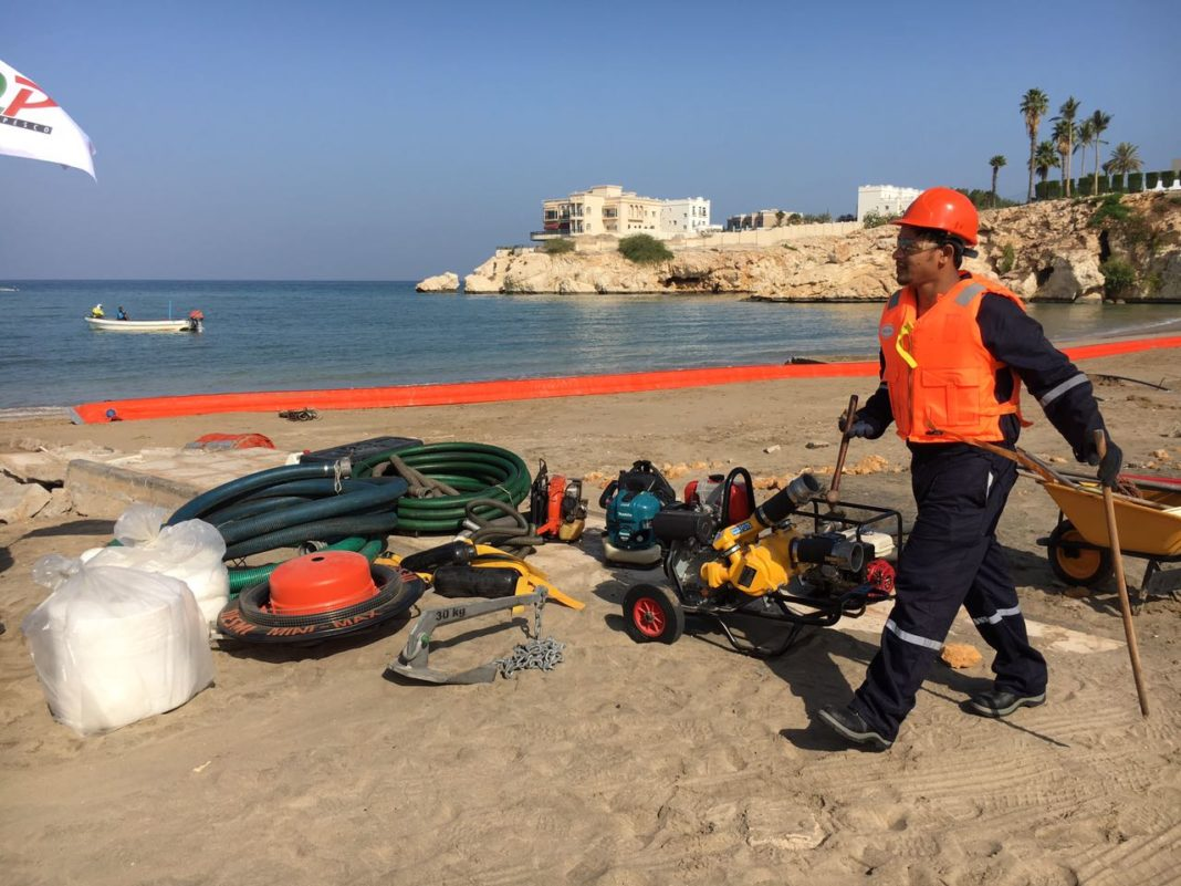 Stay away from beaches - National Oil Spill Exercise, Nawras 2017