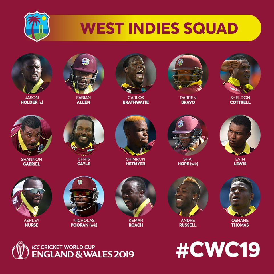 West Indies Cricket World Cup 2019 Squad Amazing Oman