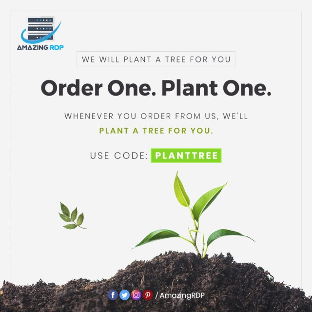 amazingrdp buy a server and we will plant a tree for free