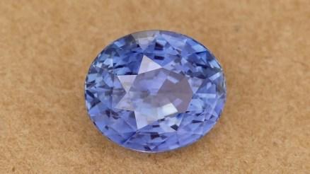 Faceted Cornflower Blue Sapphire