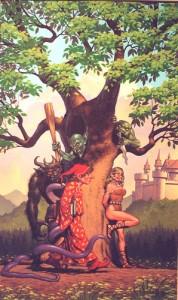 "Walter Velez ""Go Quest, Young Man!"" Cover for K.B.Bogan's novel, for TSR, Inc. 1994"