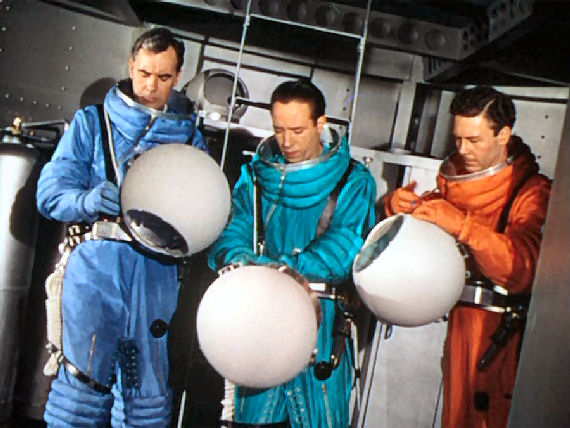 Figure 4 - Blue, Green and Orange Spacesuits