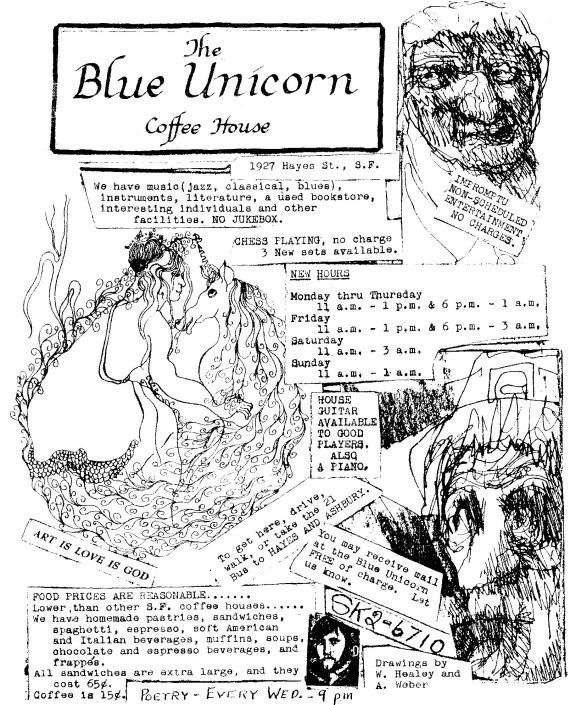 Figure 4 - Blue Unicorn Flyer circa 1967