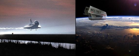 Space Shuttle Columbia and Shuttlecraft Galileo