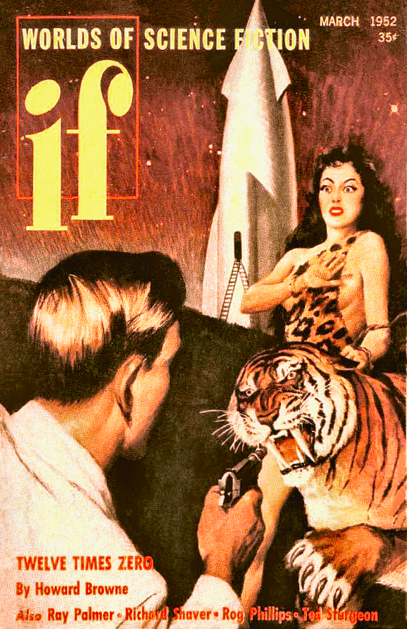 Figure 2 - Worlds of If Number 1 Cover by Martin Key