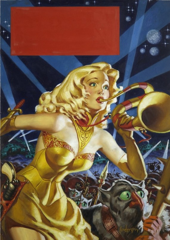 War Maid of Mars (1953) original painting by Allen Anderson