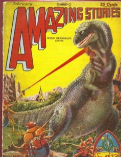 First dinosaur being attacked with a laser
