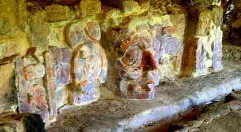 Templo de los mascarones - Detail - Edzna - Campeche