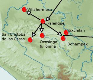 Getting Around Chiapas - Map