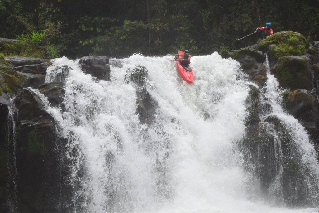 Manuel Kayaking Waterfall