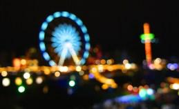 Abstract amusement park defocused blurred - Edinburgh