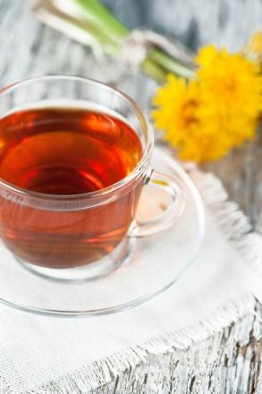 Cup Of Tea And Dandelions