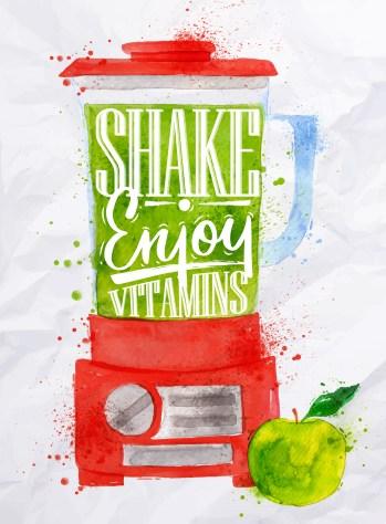 Poster blender shake