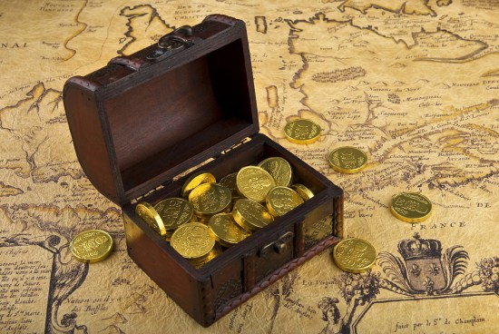Map And Treasure Chest