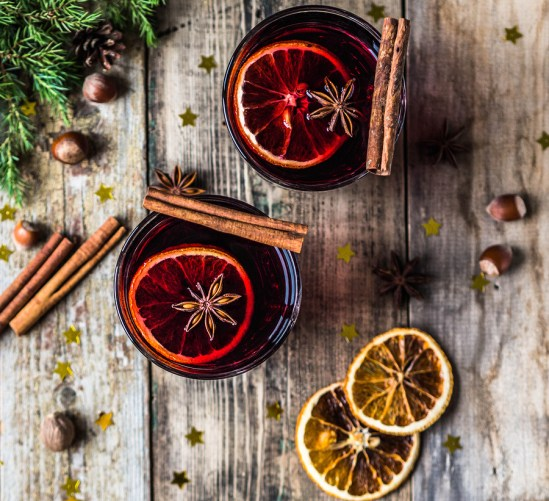 Traditional Winter Alcoholic Drink - Mulled Wine. Hot Wine With
