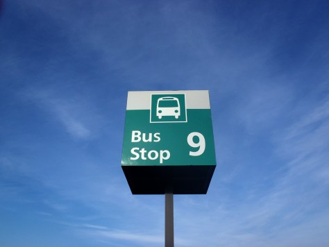 Airport parking shuttle stop