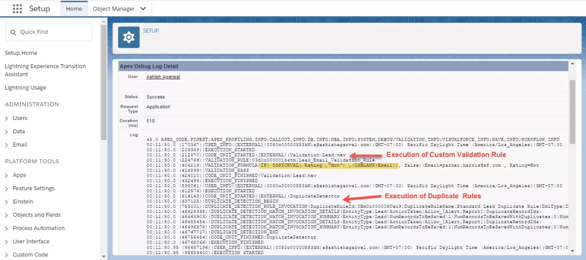 Debugging Order of Execution in Salesforce