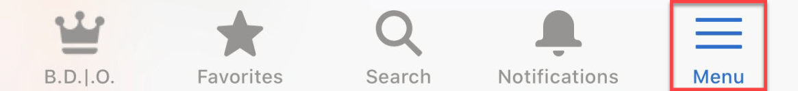 click menu in salesforce mobile app