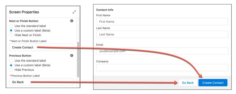 """, Personnaliser les étiquettes des boutons dans le pied de page de l&rsquo;écran Flux<span class=""""wtr-time-wrap after-title""""><span class=""""wtr-time-number"""">1</span> minutes de lecture</span>"""