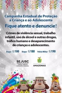 Sejusc lança campanha estadual de proteção à criança e ao adolescente para o interior do Amazonas