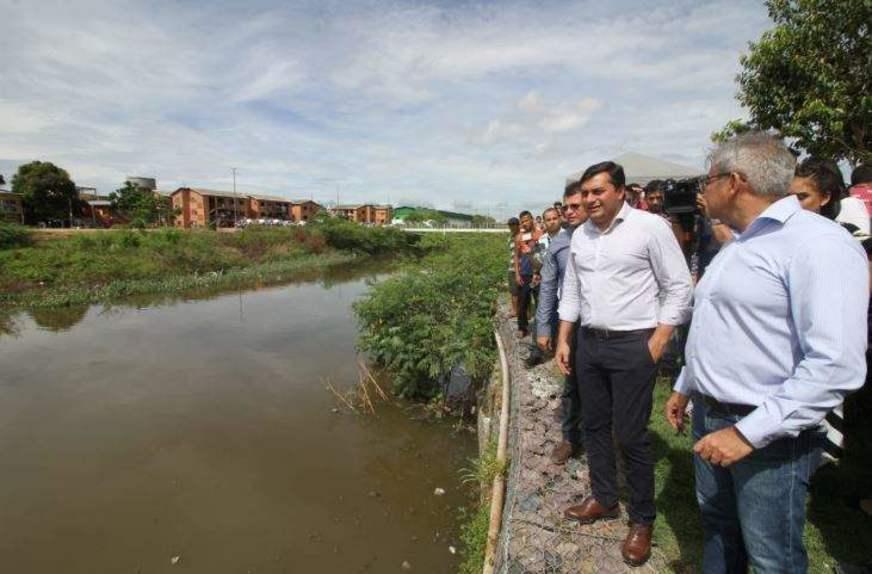 Wilson Lima anuncia construção de trecho do Igarapé do 40, em Manaus