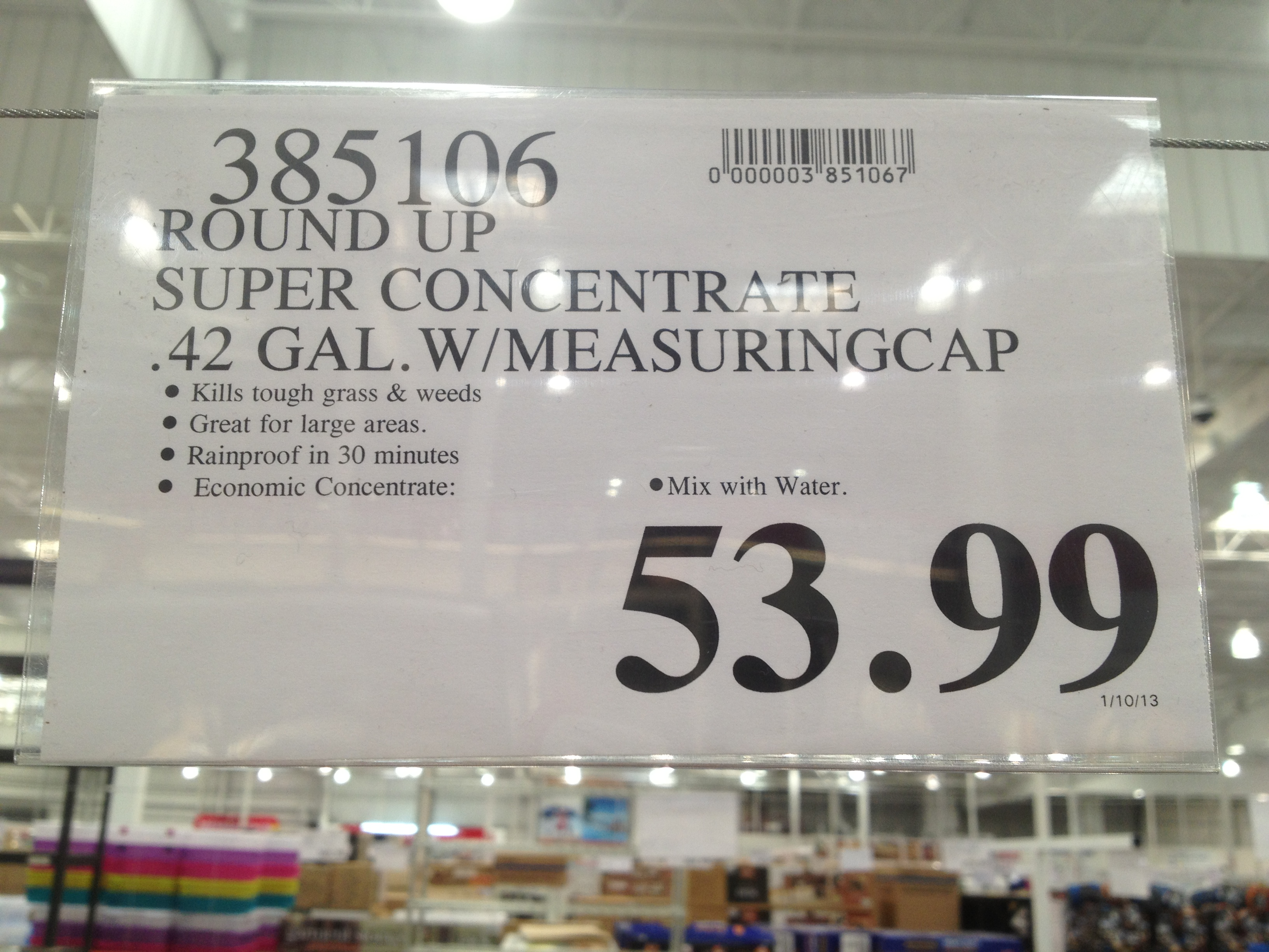 Costco - item number 385106 - Roundup Super Concentrate 0 ... on Costco Number id=46389