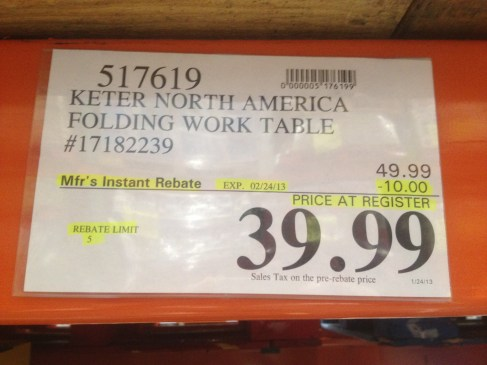 Costco - item number 517619 - Keter North America Folding ... on Costco Number id=79528