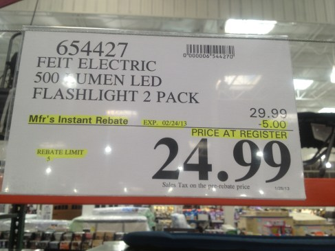 Costco - item number 654427 - FEIT Electric 500 lumens LED ... on Costco Number id=96744