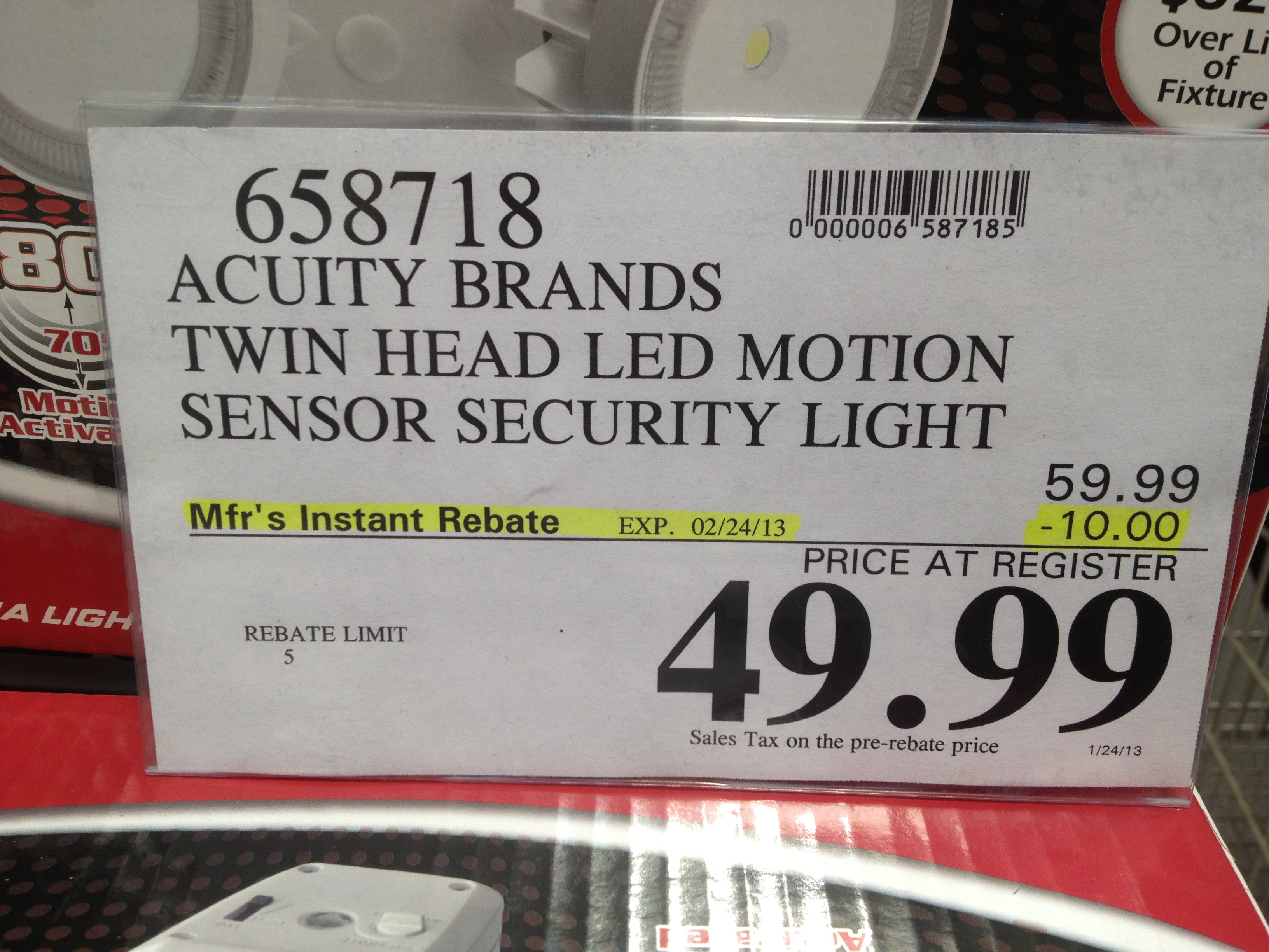 Costco - item number 658718 - Acuity Brands Twin Head LED ... on Costco Number id=37257