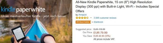 Kindle Paperwhite discount