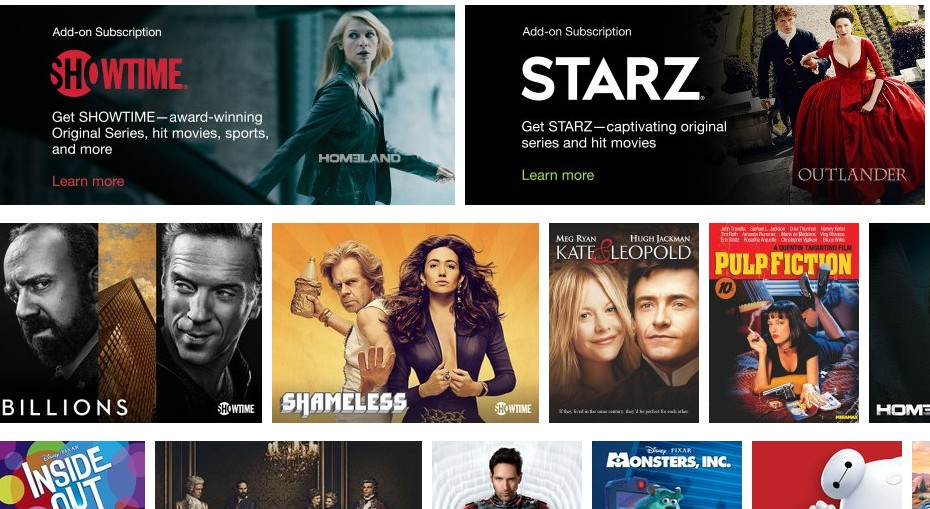 add showtime subscription to amazon