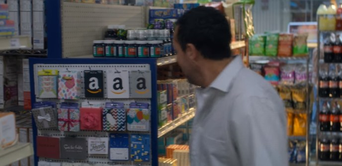 What's up with the Amazon Gift Cards in Murder Mystery on Netflix?