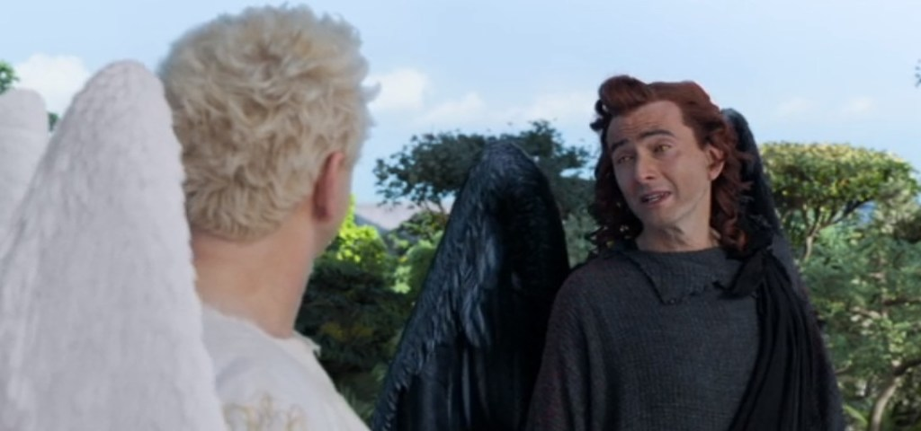 From the first scene in Good Omens on Amazon.com