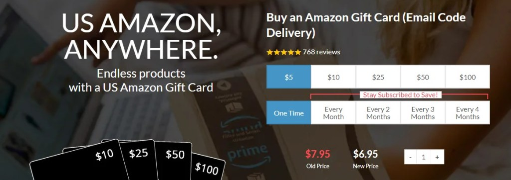 Buy a US Amazon Gift Card online
