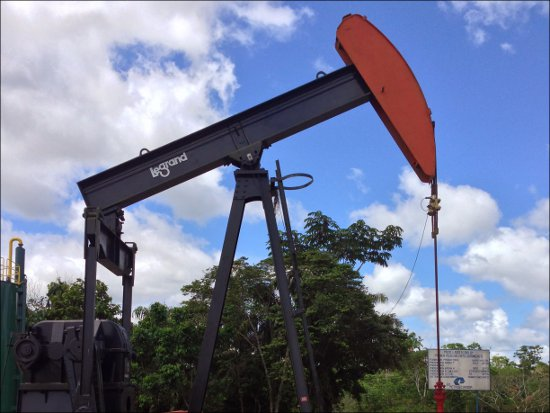 Texaco oil well in the Ecuadorian Amazon