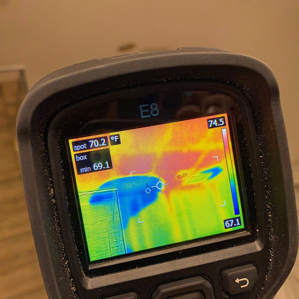 Using instruments to detect leaks and moisture