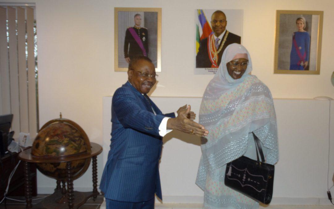 VISITE DE COURTOISIE DE S.E. MADAME L'AMBASSADEUR DE LA RÉPUBLIQUE DU TCHAD AU COORDONNATEUR DES MISSIONS DIPLOMATIQUES AFRIQUE CENTRALE A BRUXELLES.