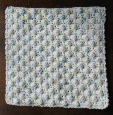 crochet dishcloth patterns - free ball stitch pattern by Ambassador Crochet