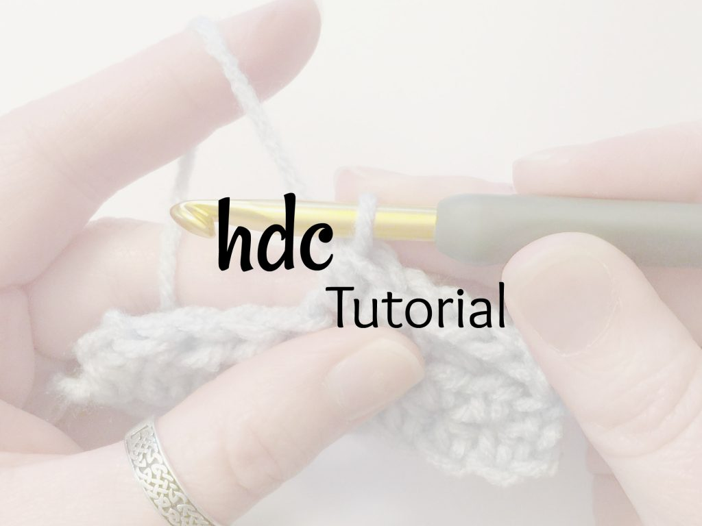 hdc tutorial - photo tutorial for half double crochet stitch