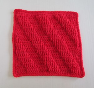 Textured Afghan Square