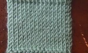 TKS - tunisian knit stitch