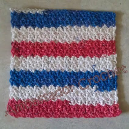 Red White Blue Crochet Dishcloth Pattern Ambassador Crochet