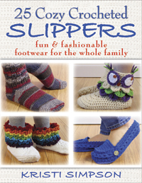 25 Cozy Crocheted Slippers book review