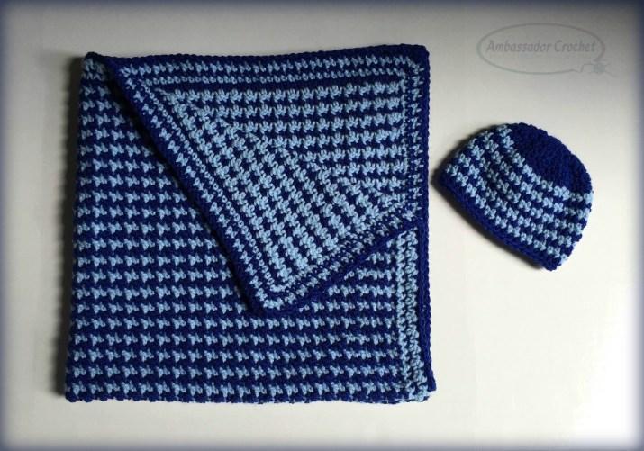 Baby Heartbeat - Reversible Blanket Crochet Pattern - $3.50 pattern by Ambassador Crochet