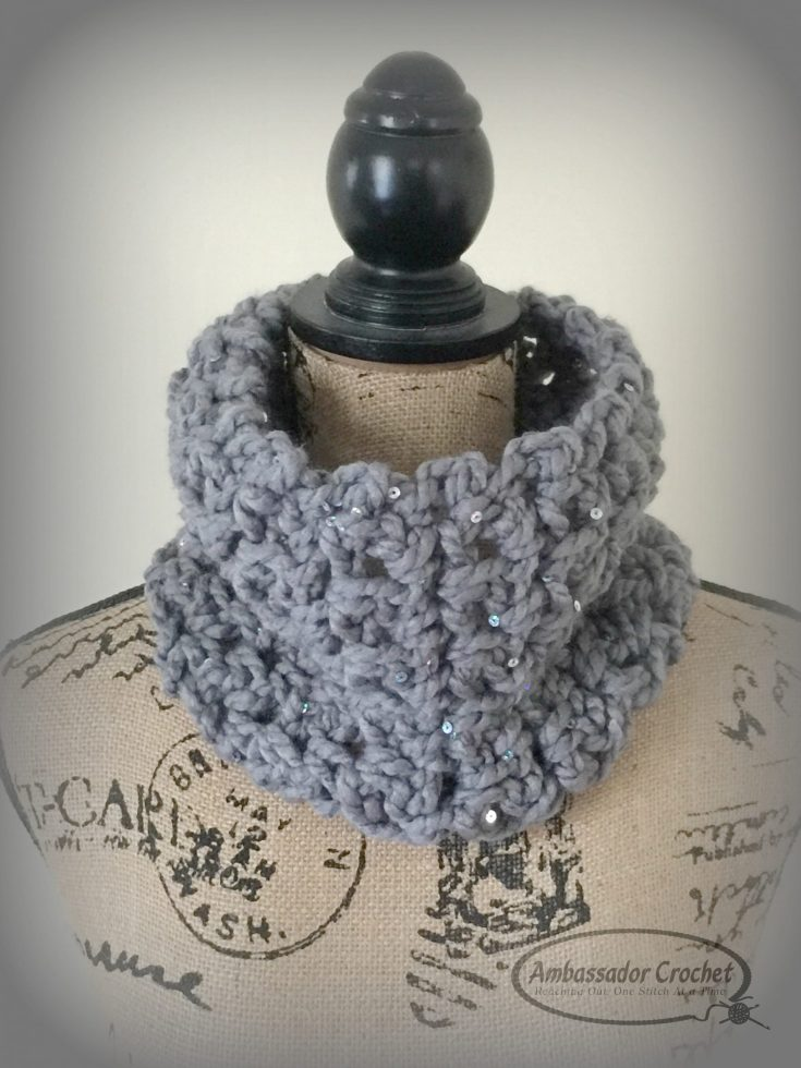 Dress It Up Easy Cowl Crochet Pattern